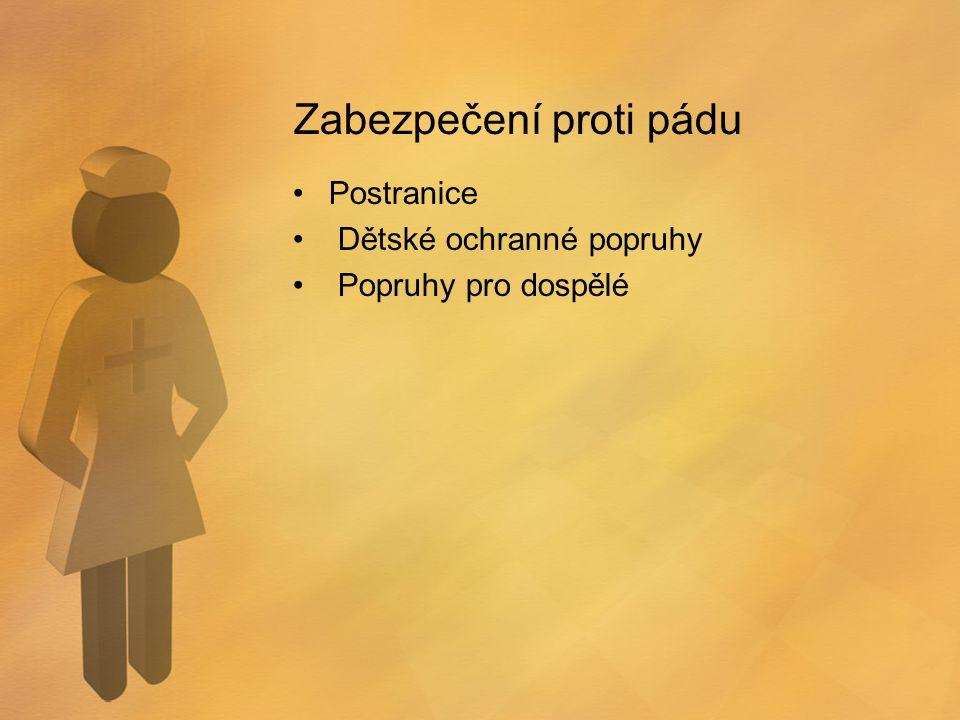 Zabezpečení proti pádu Postranice Dětské ochranné popruhy Popruhy pro dospělé