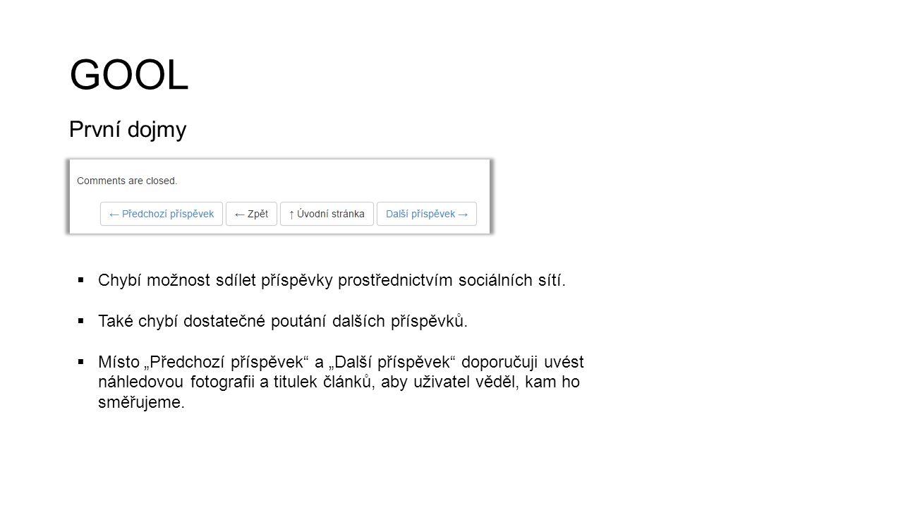 GYM Možnosti pro zlepšení  Neuvádět datum v angličtině na fotce, duplikuje se s datem u textu.