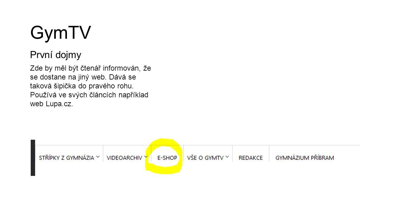 GymTV První dojmy Zde by měl být čtenář informován, že se dostane na jiný web. Dává se taková šipička do pravého rohu. Používá ve svých článcích napří