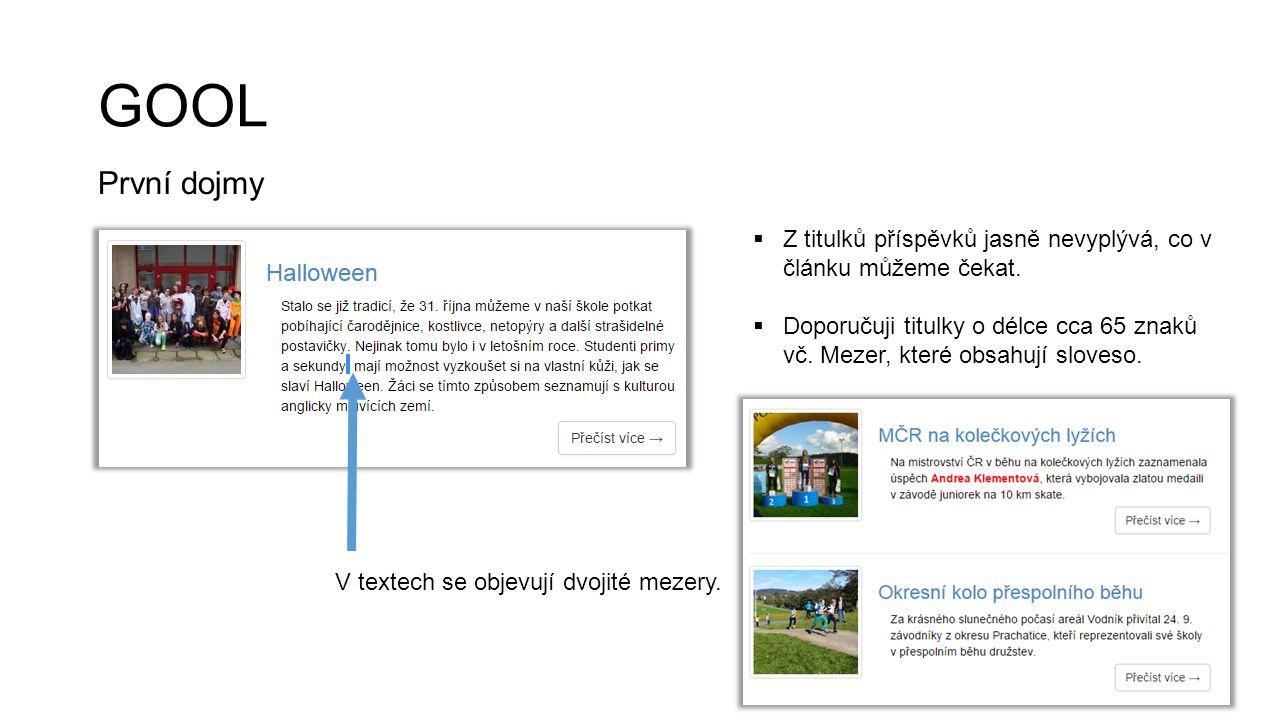 CHRUDIMKA.cz První dojmy  Určitě stojí za úpravu datum vydání článků, aby bylo gramaticky správně.