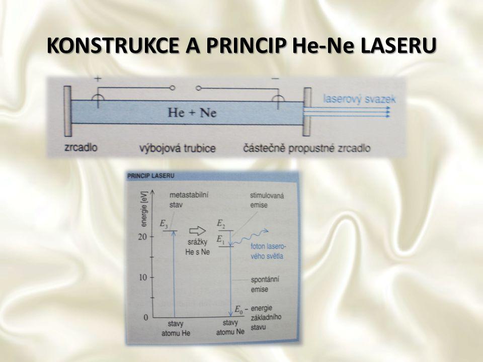 KONSTRUKCE A PRINCIP He-Ne LASERU