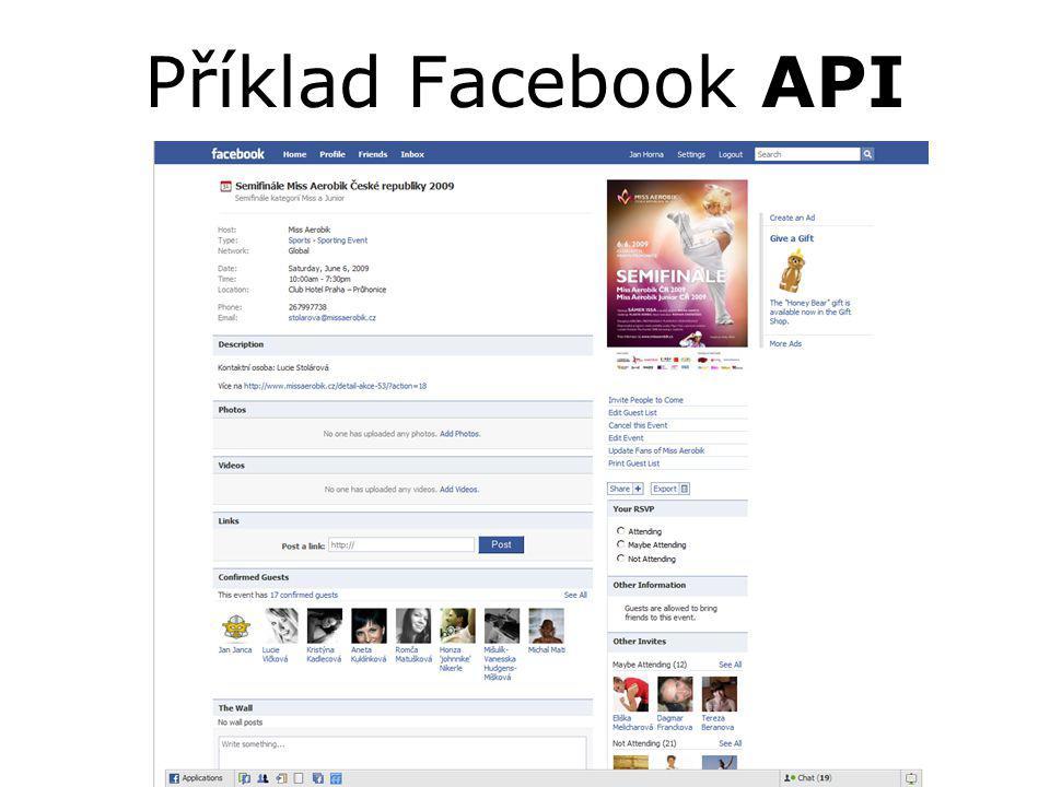Příklad Facebook API