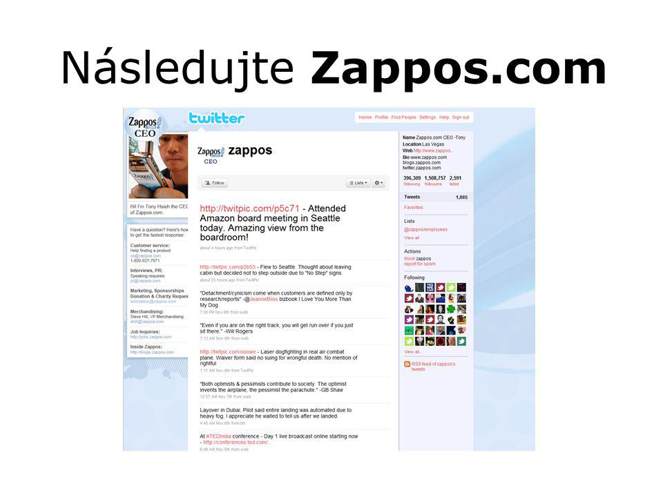 Následujte Zappos.com