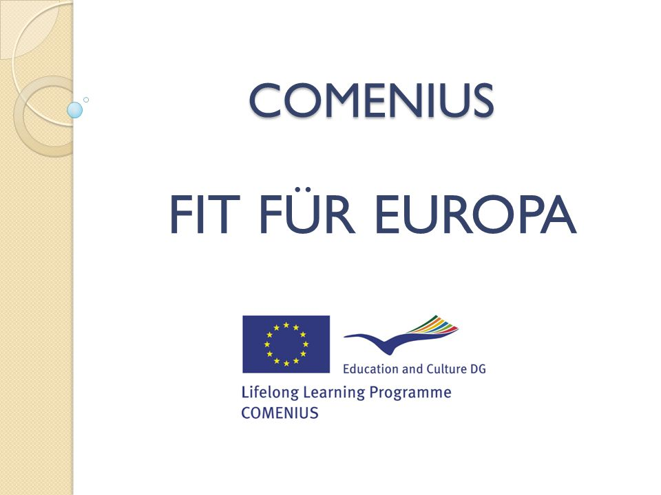 COMENIUS FIT FÜR EUROPA