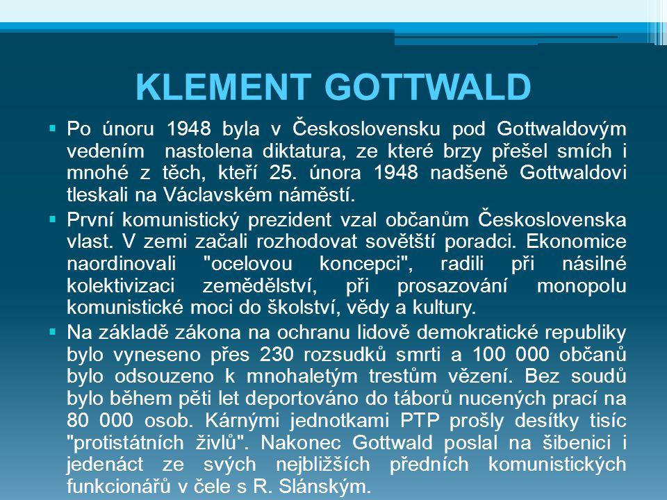 ANTONÍN ZÁPOTOCKÝ * 19.12. 1884 Zákolany † 13. 11.