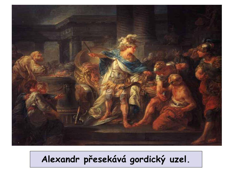 Alexandr přesekává gordický uzel.