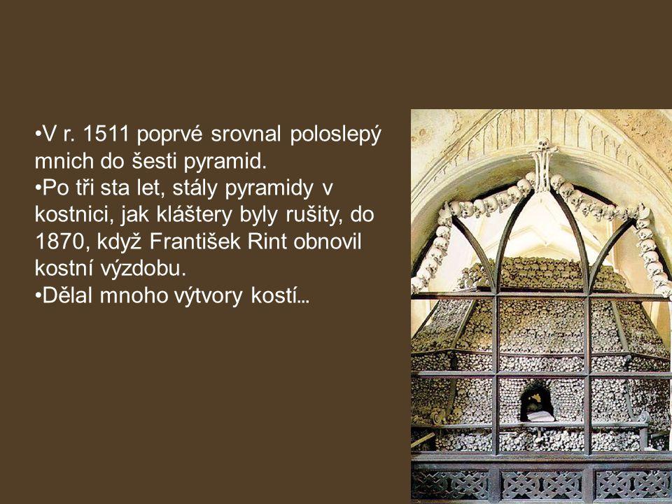 V r. 1511 poprvé srovnal poloslepý mnich do šesti pyramid.