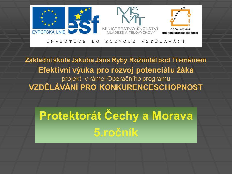 Protektorát Čechy a Morava   Německo se s pohraničím nespokojilo a 15.