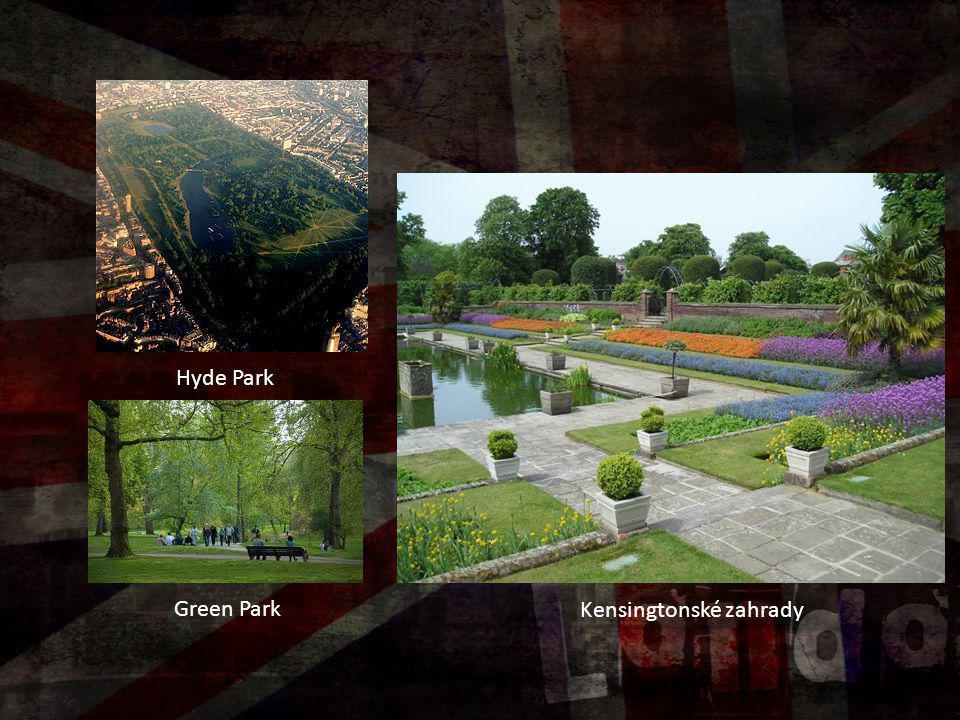 Hyde Park Kensingtonské zahrady Green Park