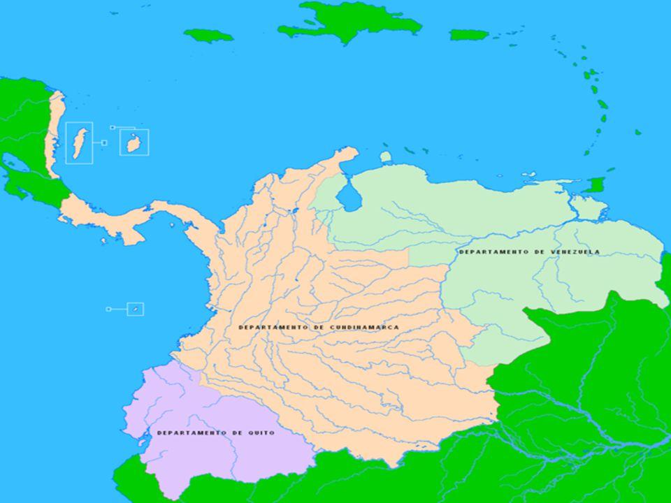 Mapa Velké Kolumbie
