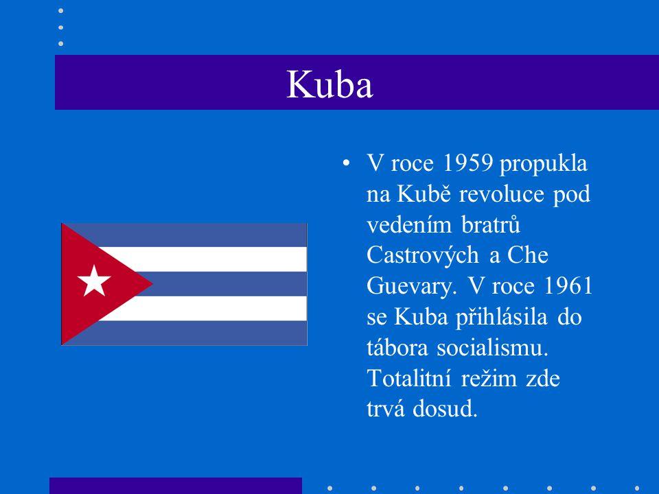 Kuba V roce 1959 propukla na Kubě revoluce pod vedením bratrů Castrových a Che Guevary.