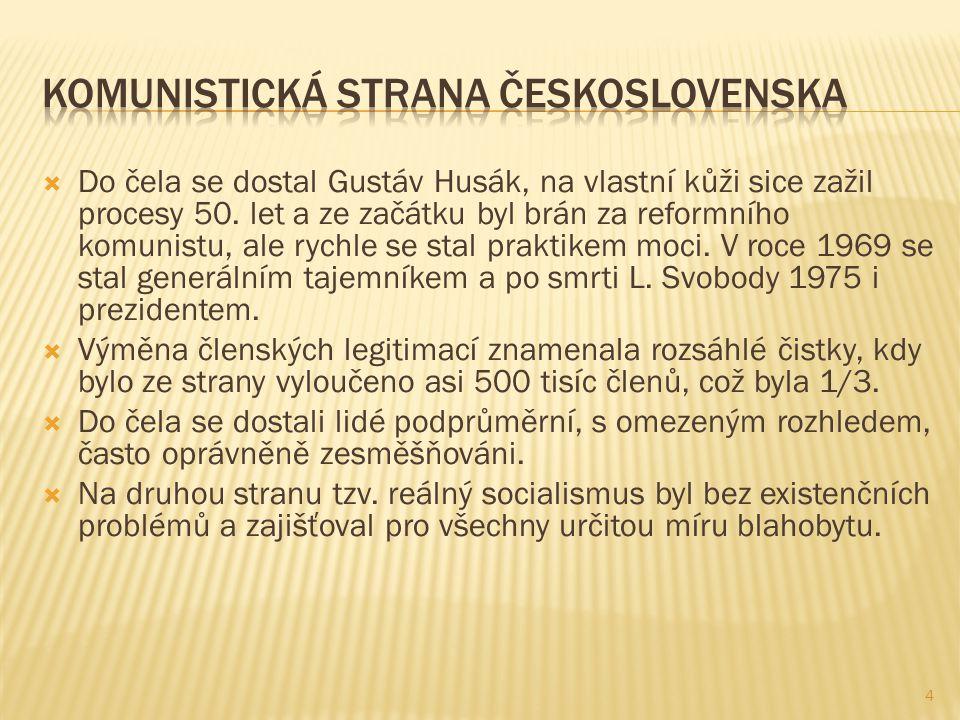  Do čela se dostal Gustáv Husák, na vlastní kůži sice zažil procesy 50.