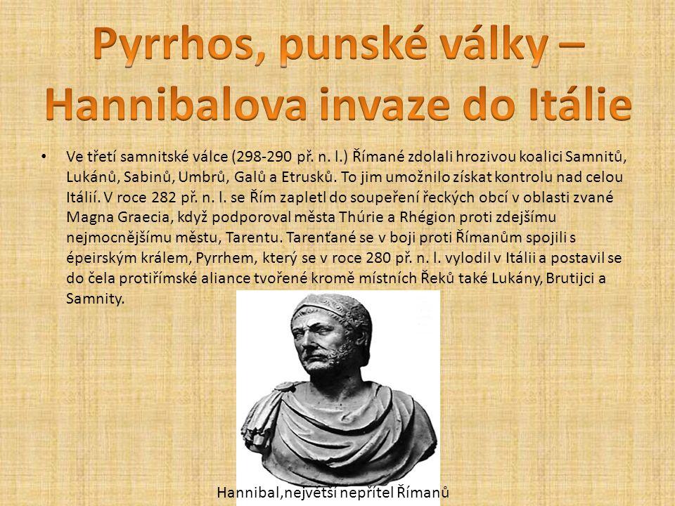 Ve třetí samnitské válce (298-290 př. n. l.) Římané zdolali hrozivou koalici Samnitů, Lukánů, Sabinů, Umbrů, Galů a Etrusků. To jim umožnilo získat ko