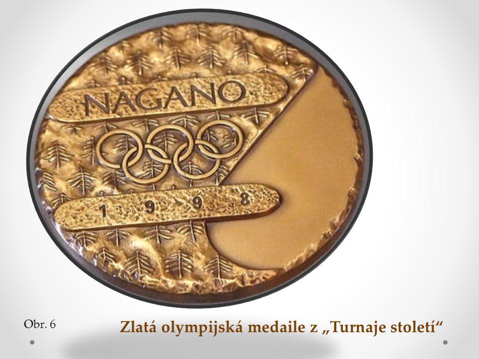 """Zlatá olympijská medaile z """"Turnaje století"""" Obr. 6"""