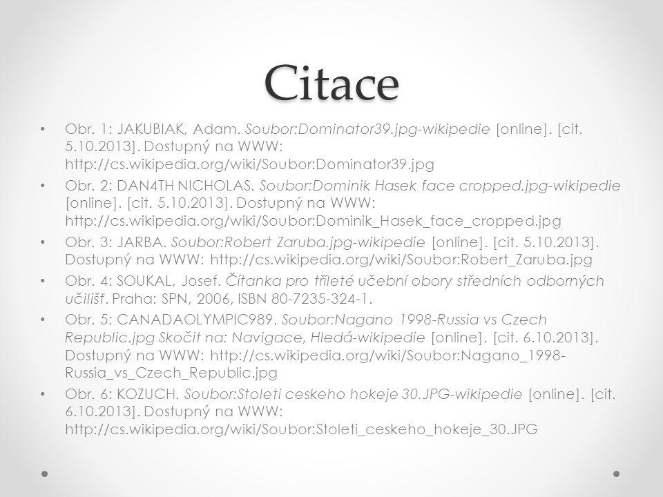 Citace Obr. 1: JAKUBIAK, Adam. Soubor:Dominator39.jpg-wikipedie [online]. [cit. 5.10.2013]. Dostupný na WWW: http://cs.wikipedia.org/wiki/Soubor:Domin
