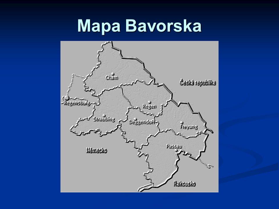 Mapa Bavorska