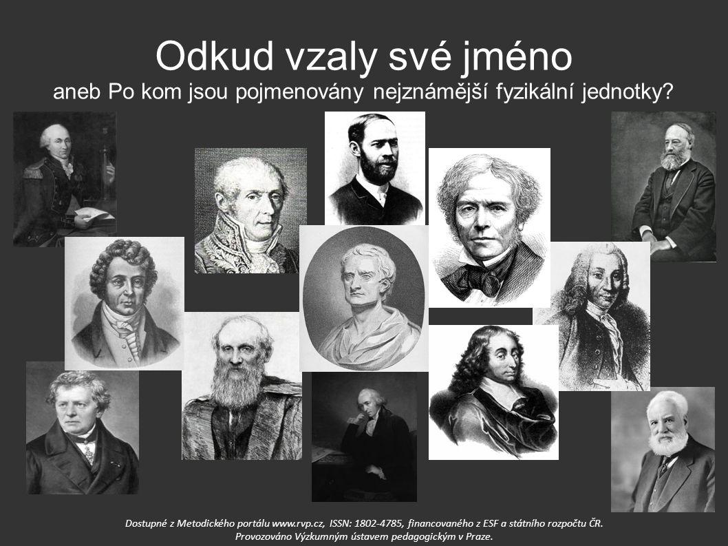Odkud vzaly své jméno aneb Po kom jsou pojmenovány nejznámější fyzikální jednotky? Dostupné z Metodického portálu www.rvp.cz, ISSN: 1802-4785, financo