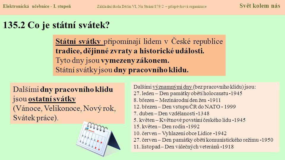 135.3 - 1.ledna – Den obnovy samostatného českého státu Elektronická učebnice - I.