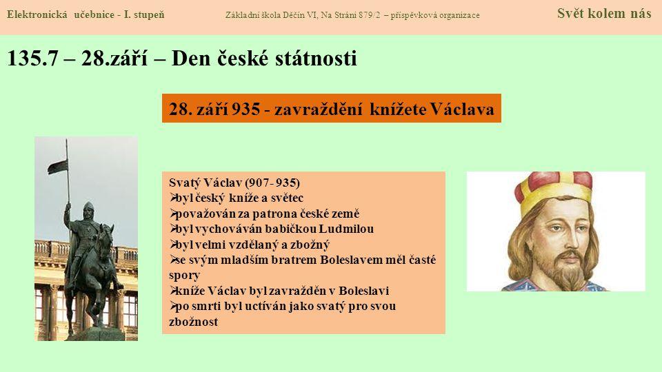 135.8 – 28.říjen – Den vzniku samostatného Československa Elektronická učebnice - I.