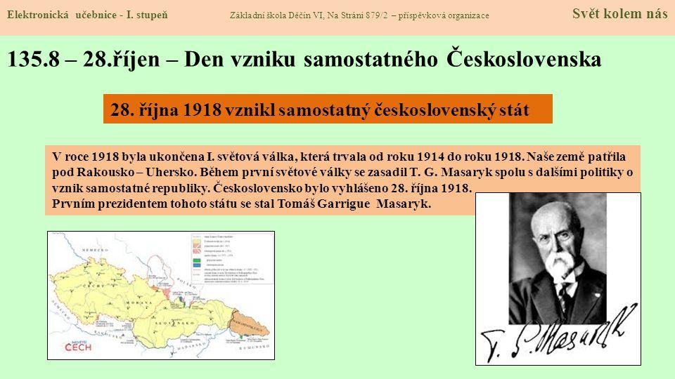 135.9 – 17.listopad – Den boje za svobodu a demokracii Elektronická učebnice - I.