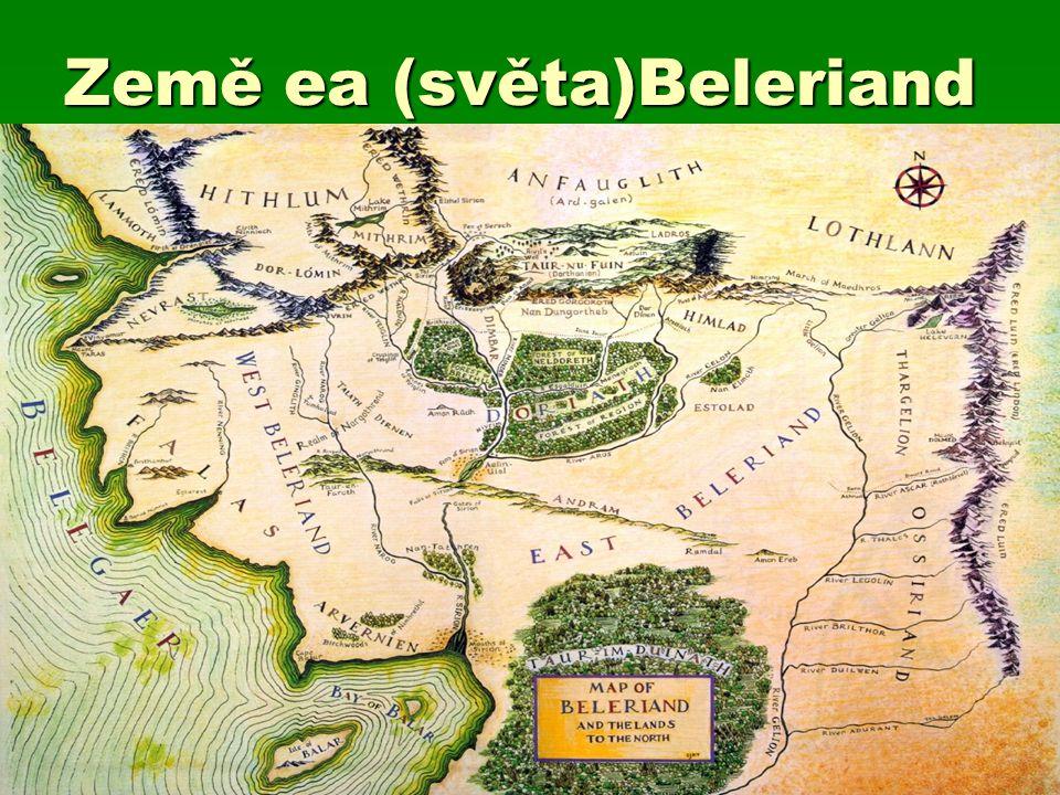 Mapa středozemě a jiných zemí