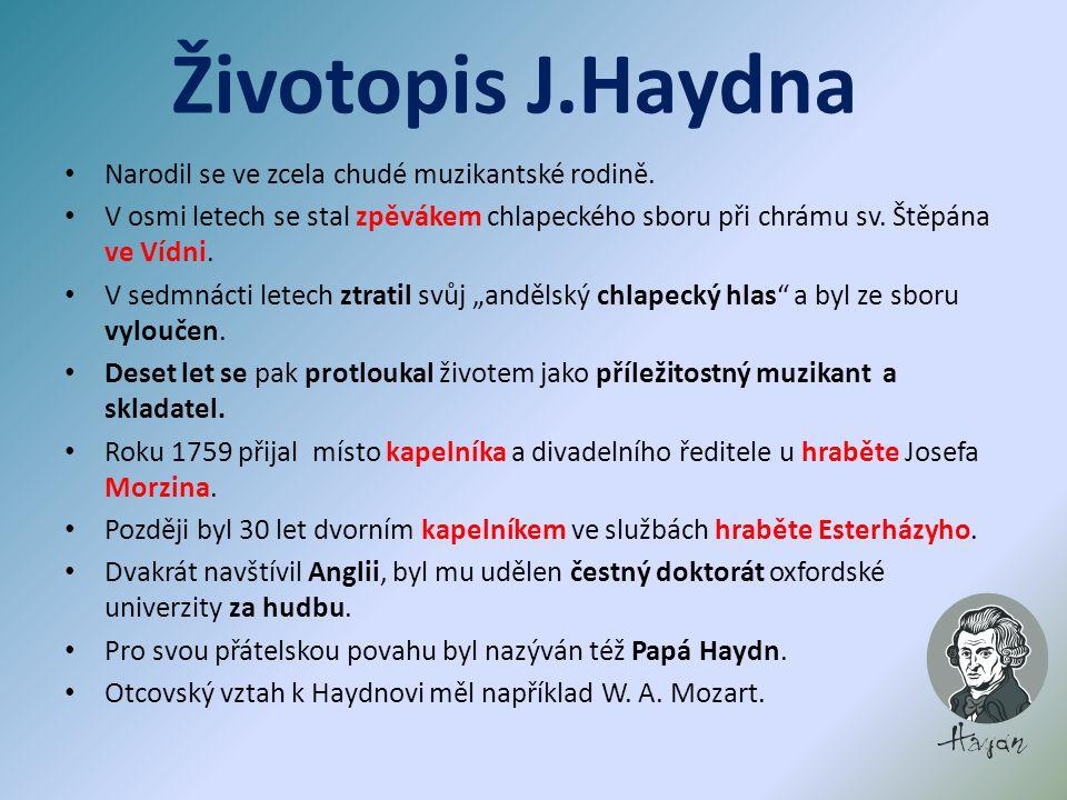 Haydnova sázka Joseph Haydn se vsadil se svým mladým přítelem Mozartem, že zahraje každou jeho klavírní kompozici z listu.