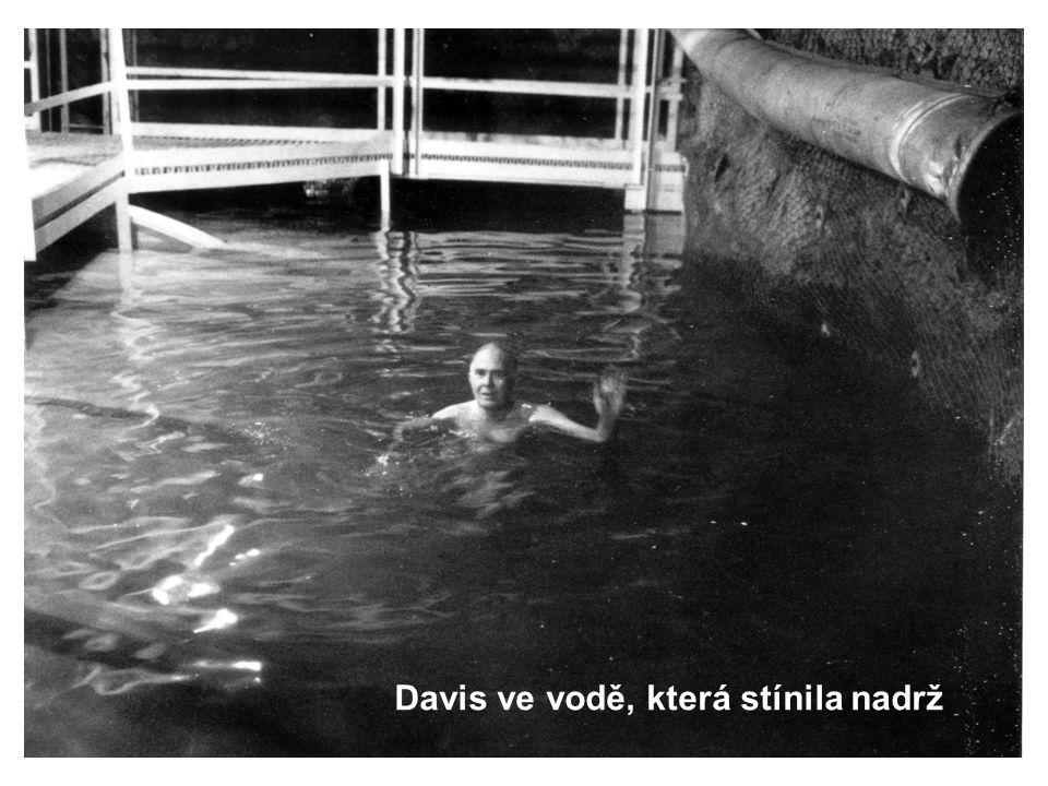 Davis ve vodě, která stínila nadrž