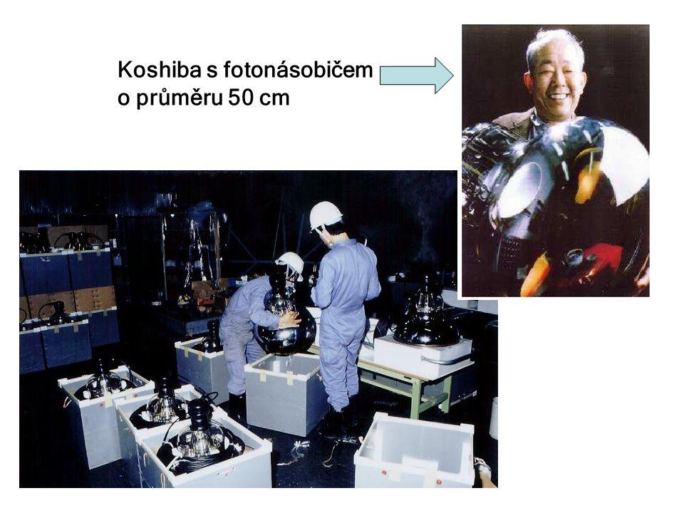 Koshiba s fotonásobičem o průměru 50 cm