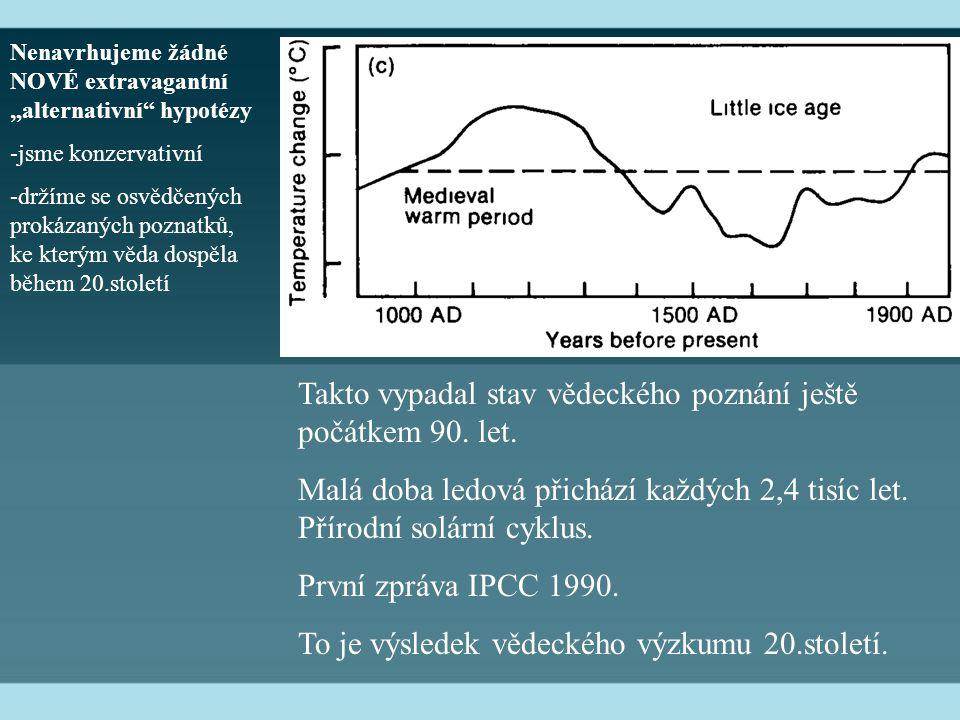 Takto vypadal stav vědeckého poznání ještě počátkem 90.