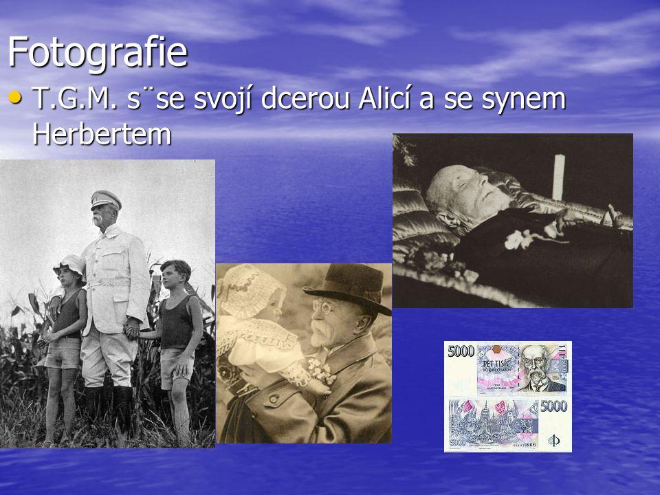 Fotografie T.G.M. s¨se svojí dcerou Alicí a se synem Herbertem T.G.M. s¨se svojí dcerou Alicí a se synem Herbertem