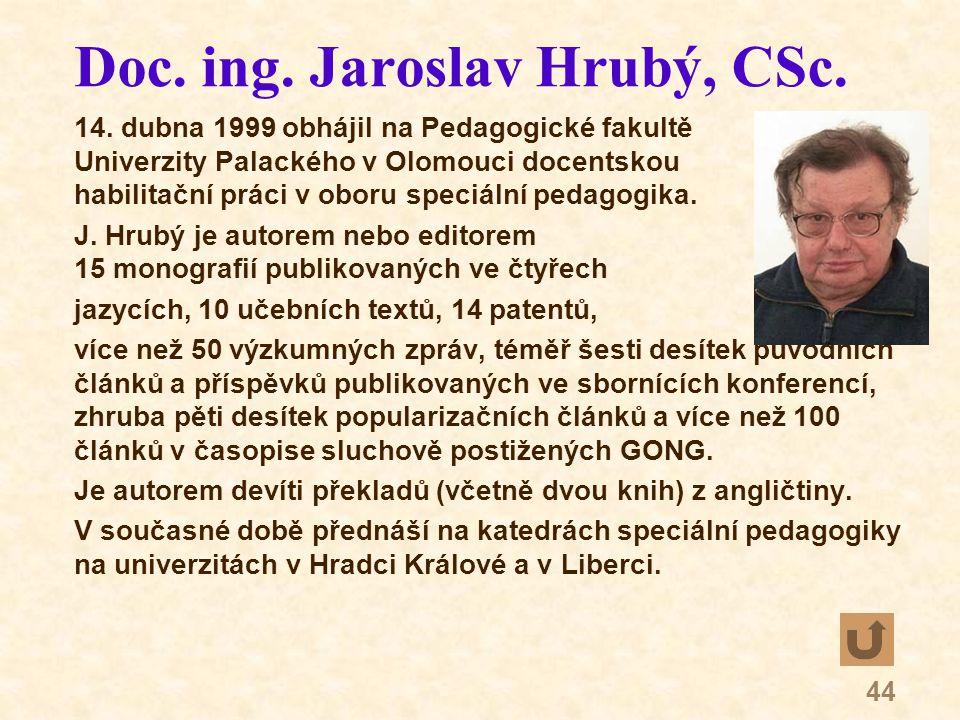 44 Doc. ing. Jaroslav Hrubý, CSc. 14.
