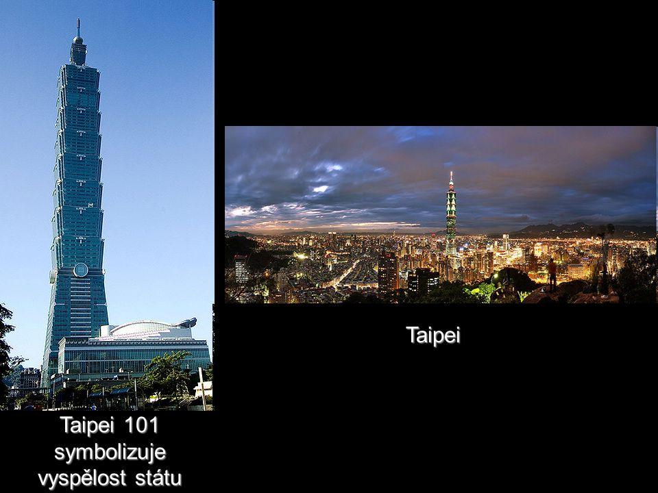 Taipei 101 symbolizuje vyspělost státu Taipei