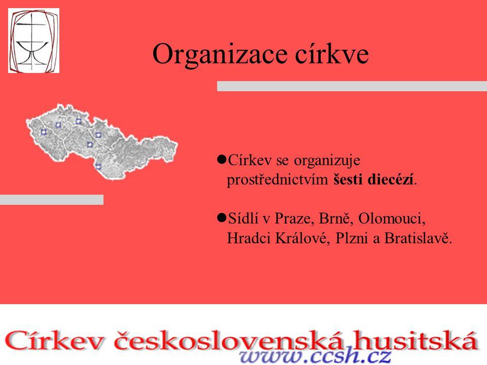 Organizace církve Církev se organizuje prostřednictvím šesti diecézí.