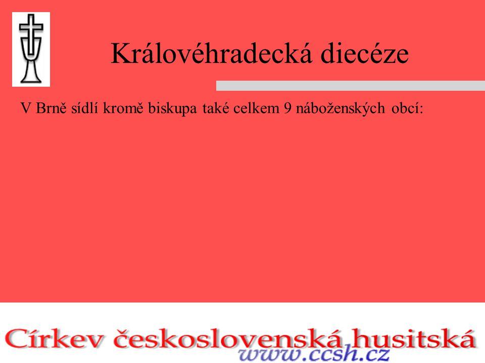 Královéhradecká diecéze V Brně sídlí kromě biskupa také celkem 9 náboženských obcí: