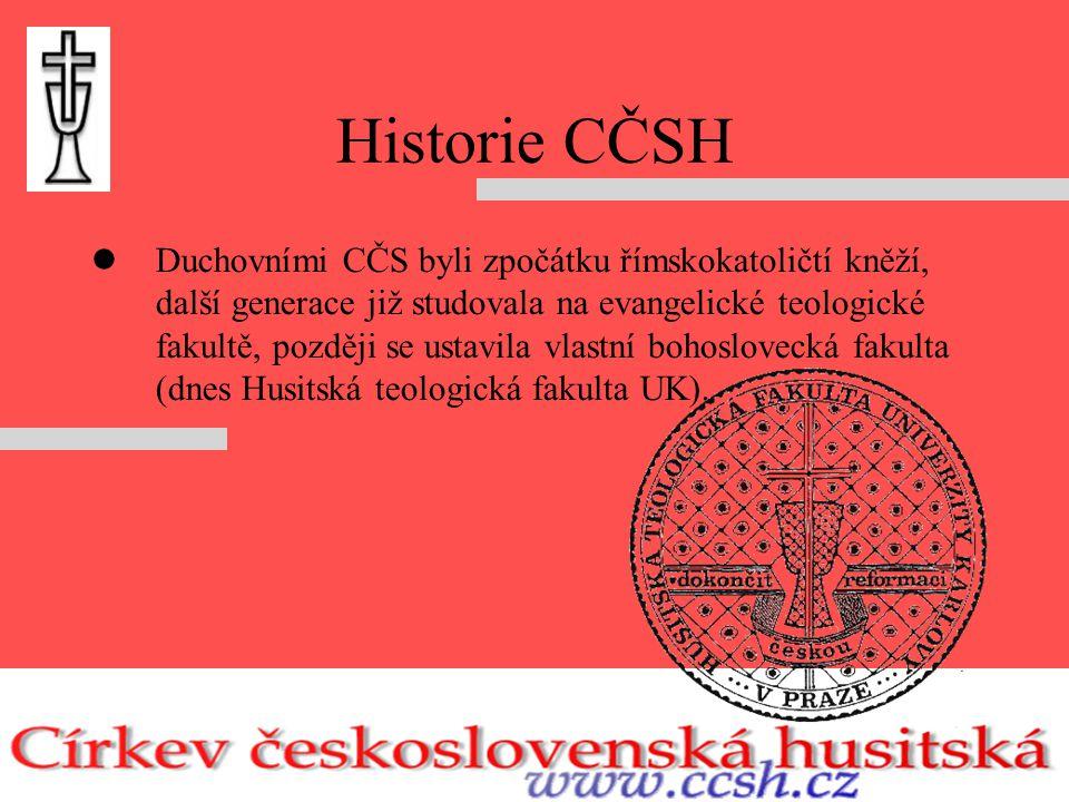 Historie CČSH Církev hledala svou identitu a ještě v 1.