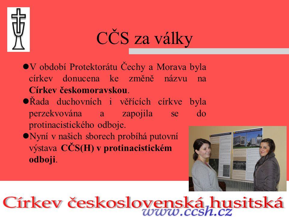 CČS za války V období Protektorátu Čechy a Morava byla církev donucena ke změně názvu na Církev českomoravskou.