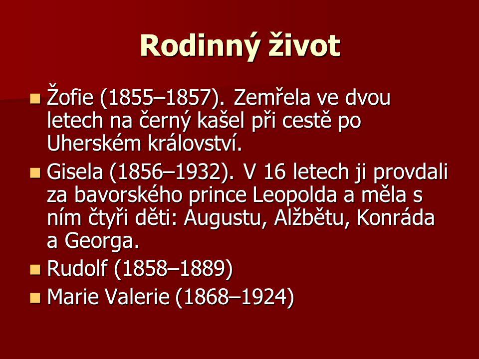 Rodinný život Žofie (1855–1857).