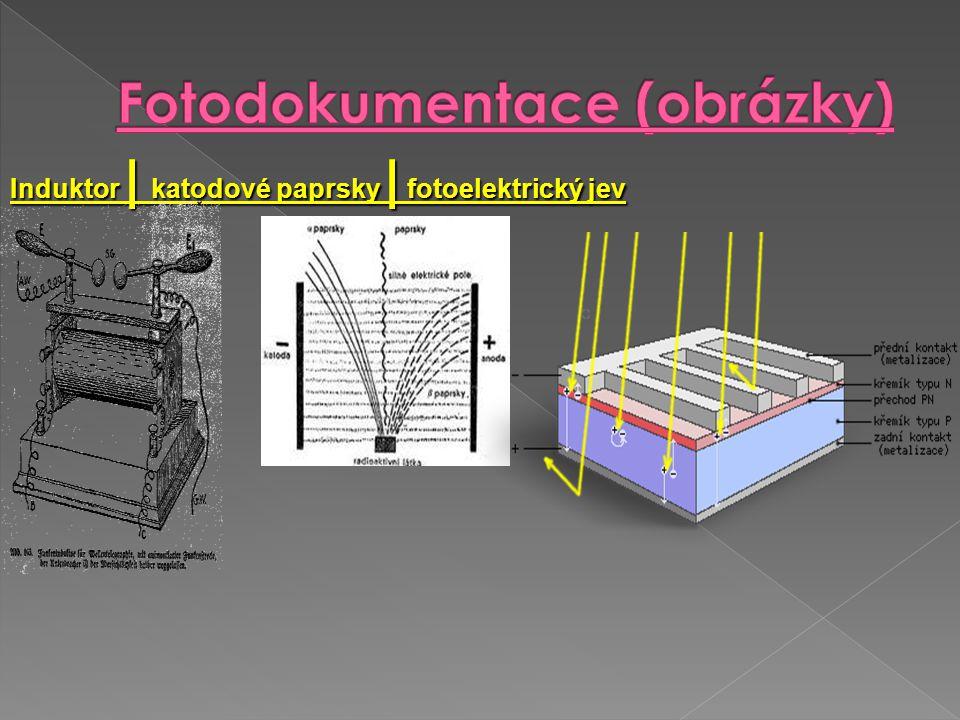 Induktor | katodové paprsky | fotoelektrický jev