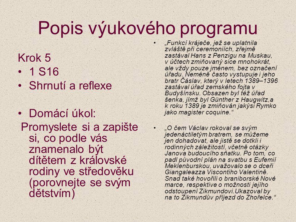Výchova královských dětí za časů Lucemburků (ve škole) Iva Dvořáková Gymnázium J.A.