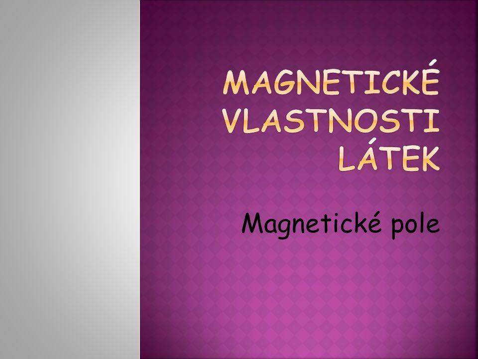  V okolí magnetu je magnetické pole  Projevuje se silovým působením na magnetku Severní pól magnetky Jižní pól magnetky