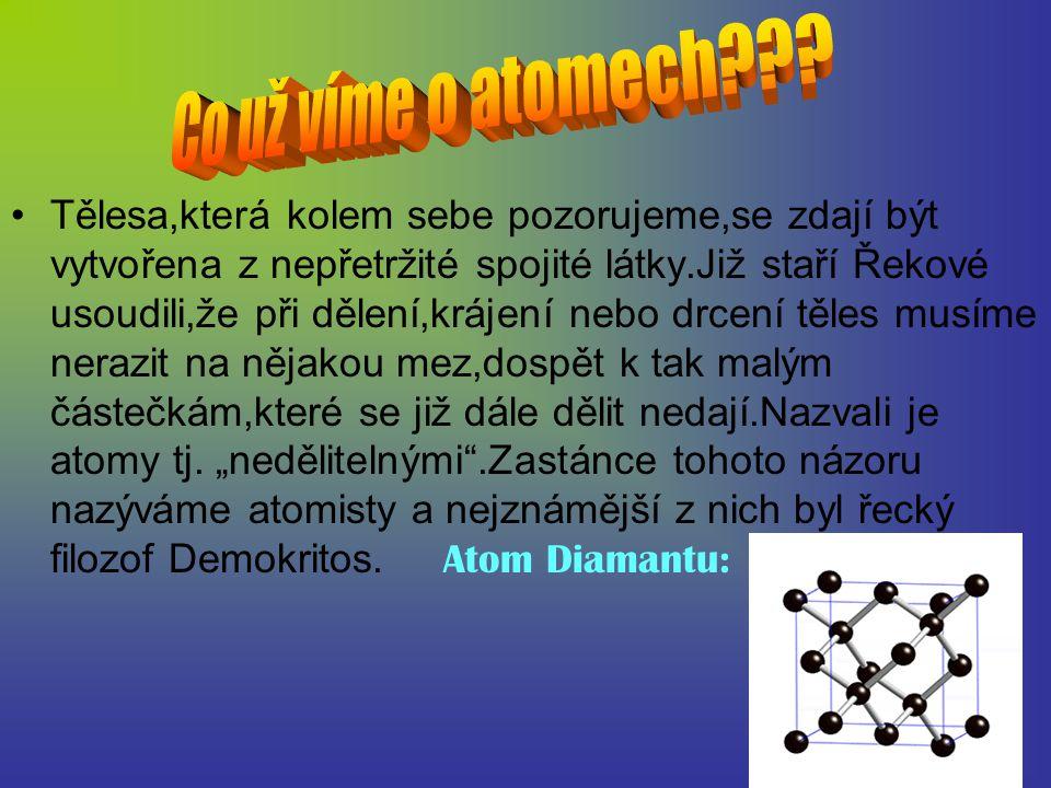 Protože atom je elektricky neutrální a přitom obsahuje záporně nabité elektrony,musí obsahovat také částice s kladným elektrickým nábojem,který by záporný náboj elektronů vyrovnával.