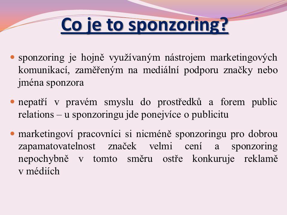 Co je to sponzoring.