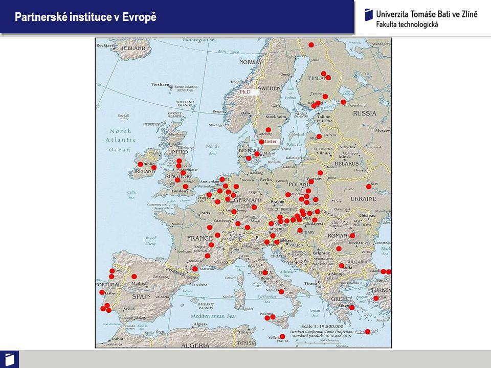 Partnerské instituce ve světě (kromě Evropy)