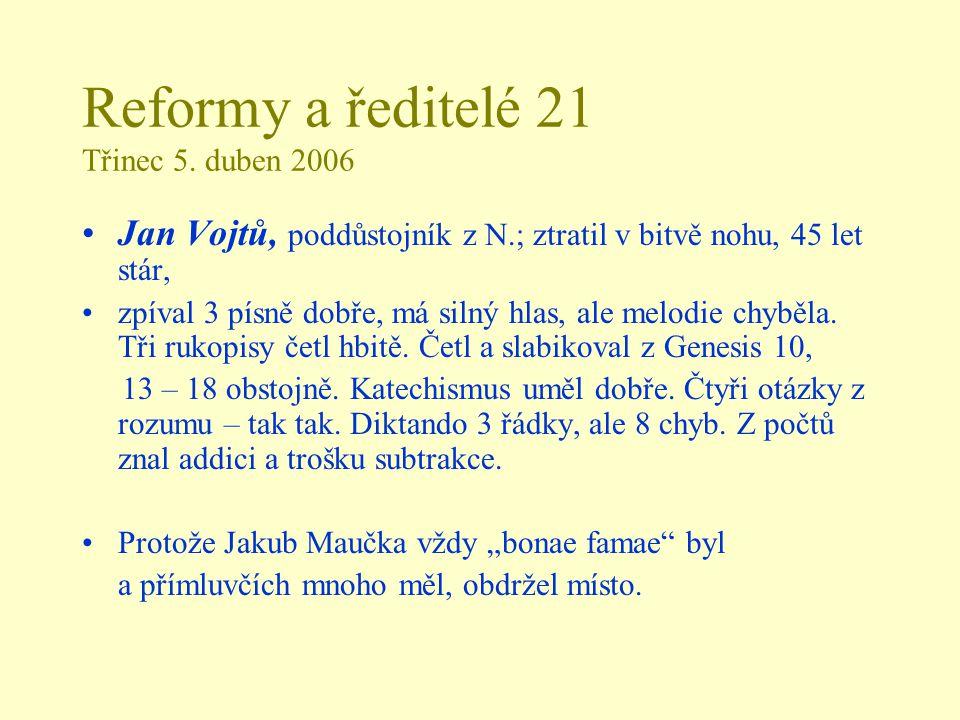 Reformy a ředitelé 21 Třinec 5.