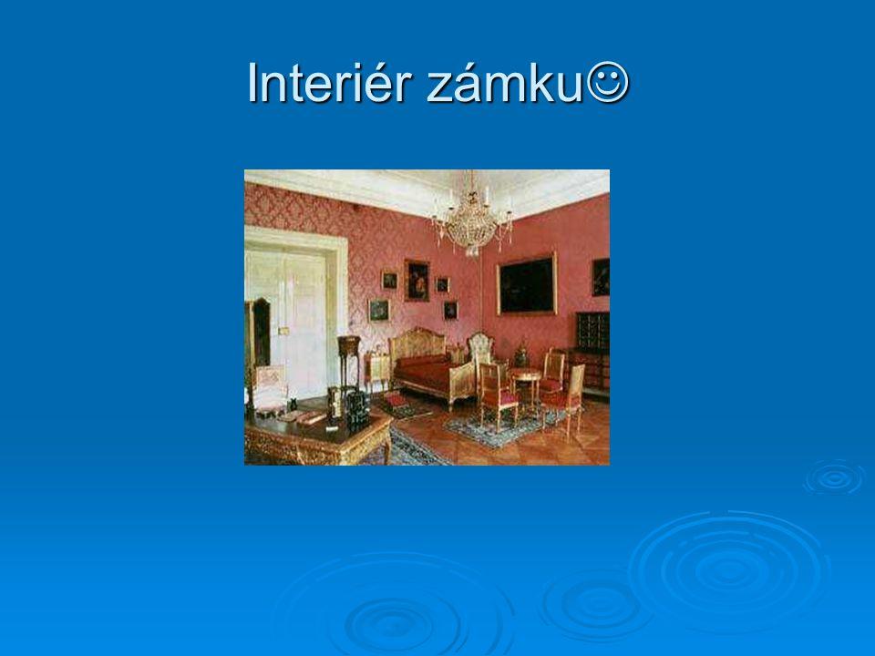 Interiér zámku Interiér zámku