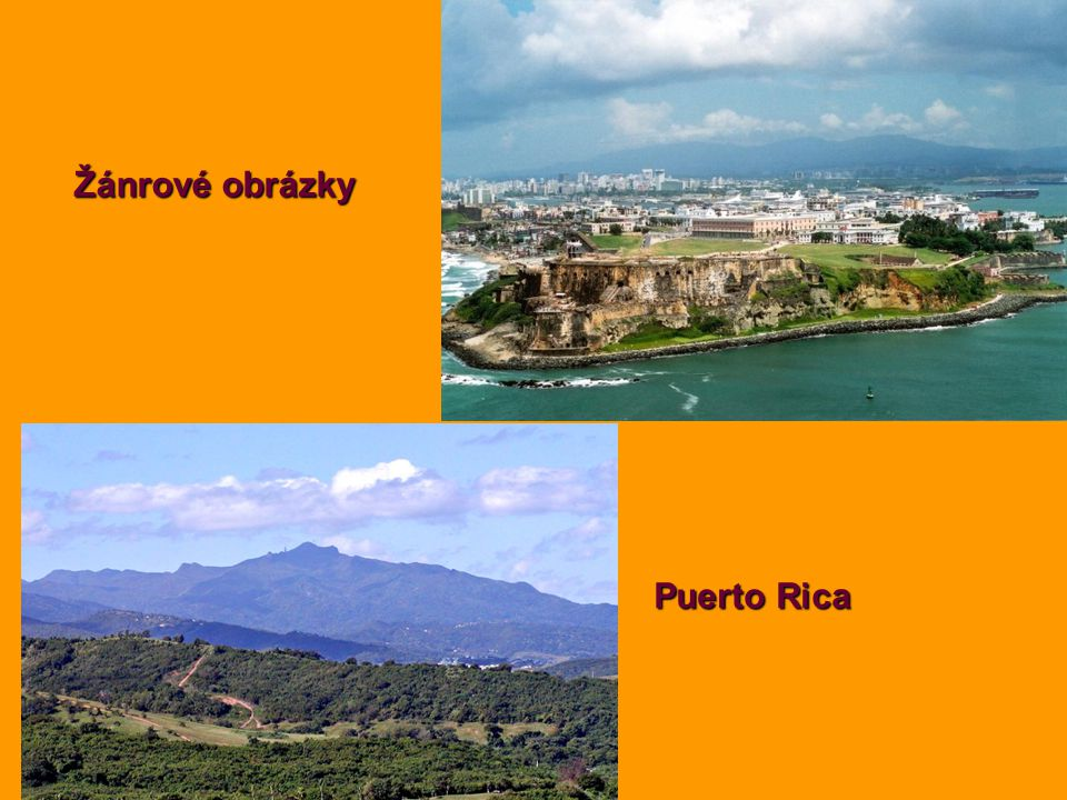 Žánrové obrázky Puerto Rica