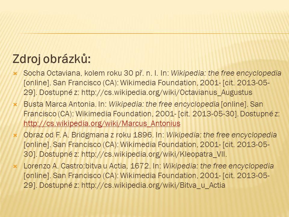 Zdroj obrázků:  Socha Octaviana, kolem roku 30 př.