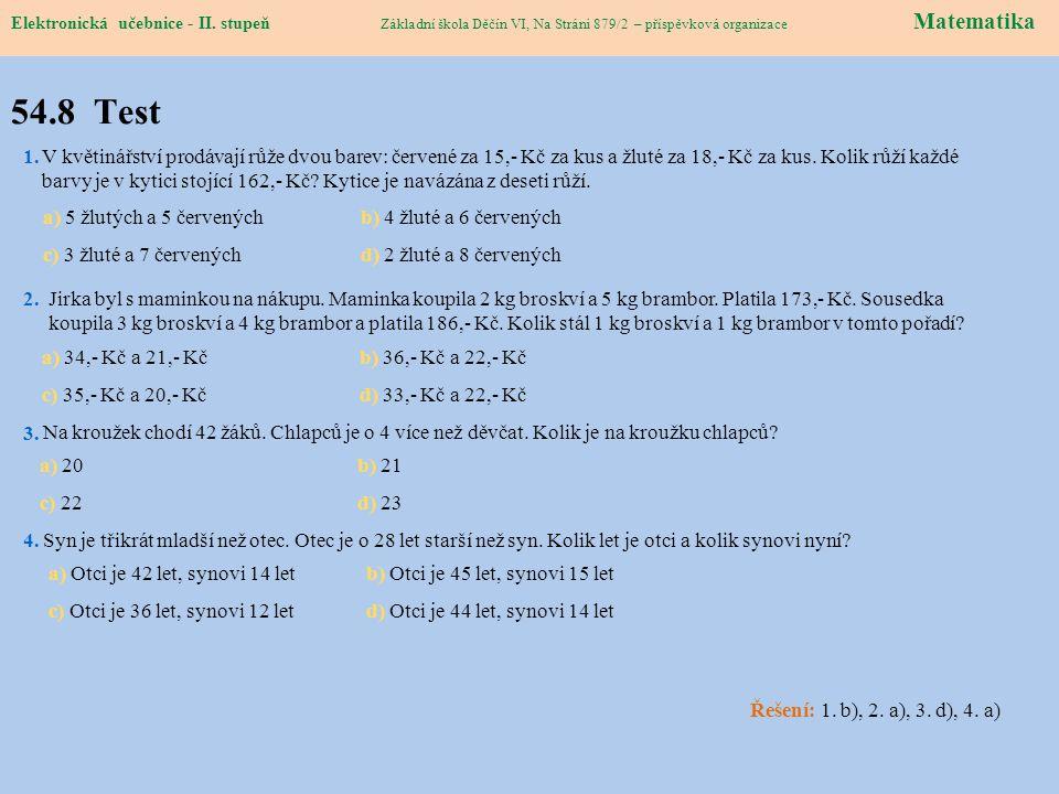 Elektronická učebnice – II.