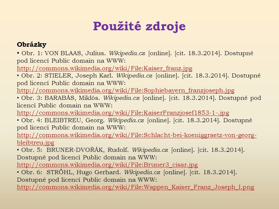 Použité zdroje Literatura ČORNEJ, P. Panovníci českých zemí. Praha: Fragment, 1992. 64 s. ISBN 80- 901070-5-2. AJŠMAN, J. Čeští králové – život a vlád