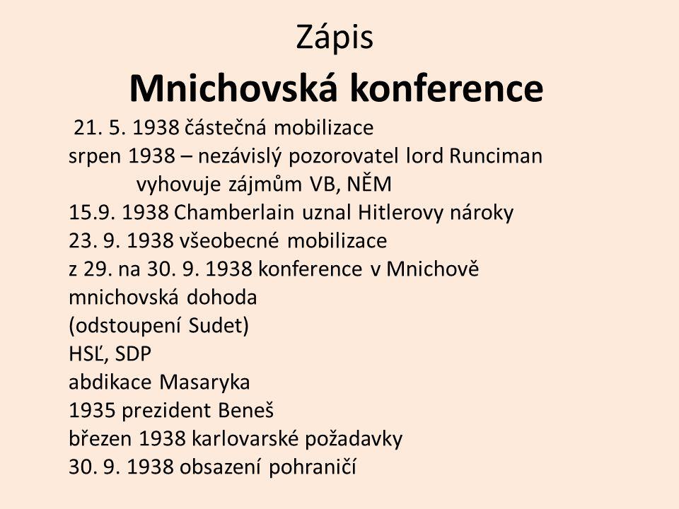 Zápis Mnichovská konference 21.5.